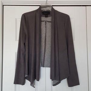 Ann Taylor factory gray faux suede blazer jacket